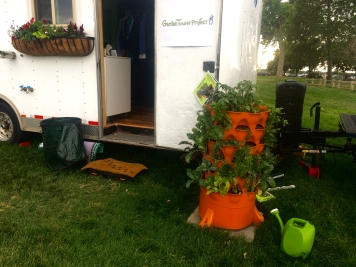 Week 2: We're pretty sure our Garden Tower was the primary draw for visitors at the Colorado Tiny House Festival :)